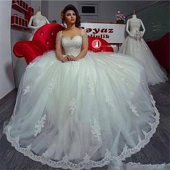 Zh3126g Arabic Gorgeous Elegant Sweetheart Neckline Ball Gown ...