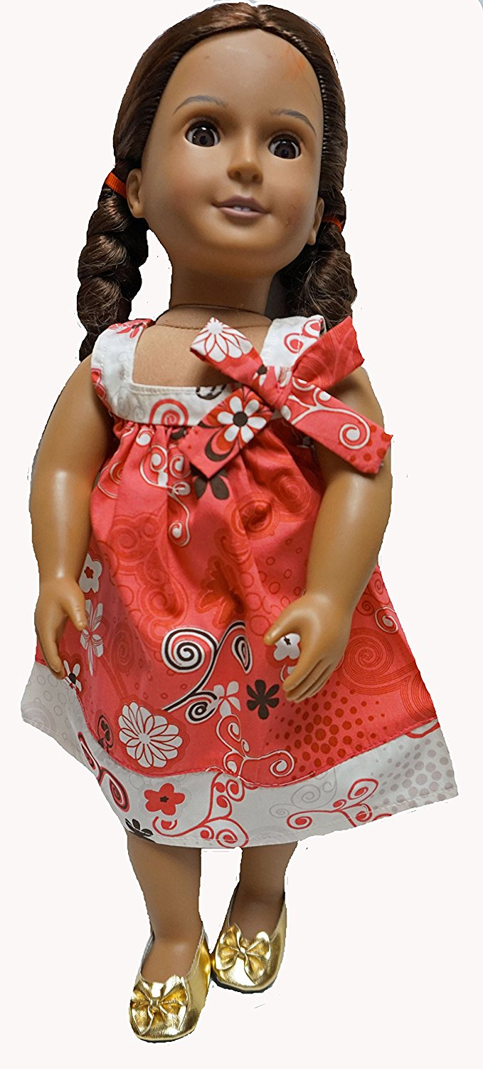 Get Quotations  C2 B7 Coral And Cream Sundress Fits 18 Inch Girl Dolls Like American Girl