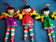 ANDEAN DOLL - 12 CM - PATA COLORES
