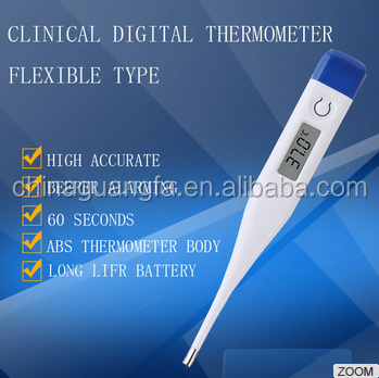 High accuracy OEM oral use hospital clinical digital thermometer with plasic tube