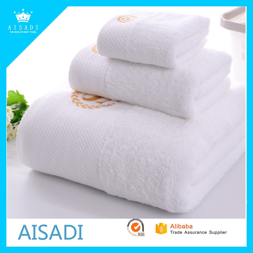 Wholesale Luxury 5 Star Hotel Bath Towels Custom Plain White 100 ...