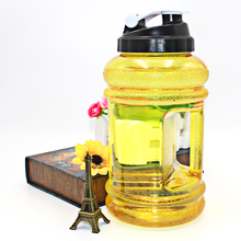 BPA FREI 1L 1.5L 1500 ml 2000 ml 2.2L Gallonen Liter Customized Logo PETG Wasserflasche