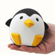 China factory black and white lovely squishy penguin rubber toys