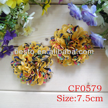 "CF0579 3"" Guangzhou factory direct petite cutting shoes fabric flower"