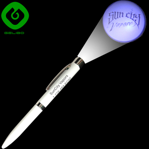 High quality metal LED logo projector pen best promotional gifts