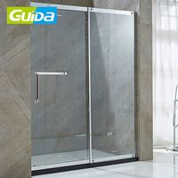 Guida brand tempered glass steam shower ISO BV CE bathtub room frameless glass shower door