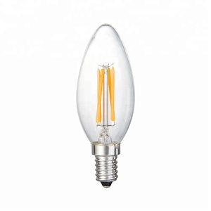 Chinlighting cheap price 3.5W deep dimmable E12 E14 base B11 candle C35 CA32 LED filament bulb