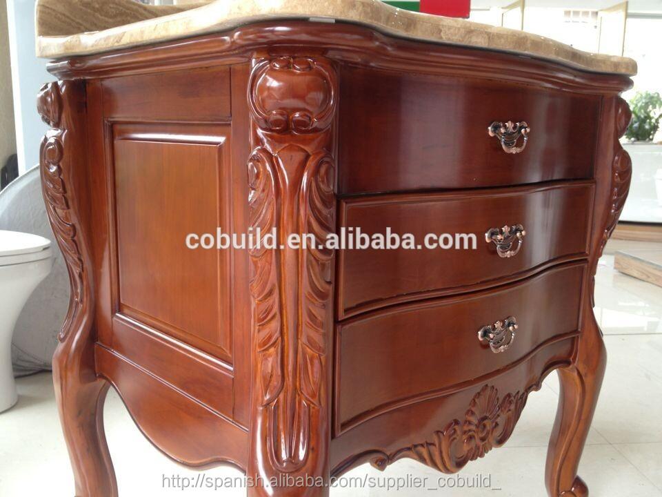 Nuevo diseño de muebles de madera de roble, cuarto de baño de la ...
