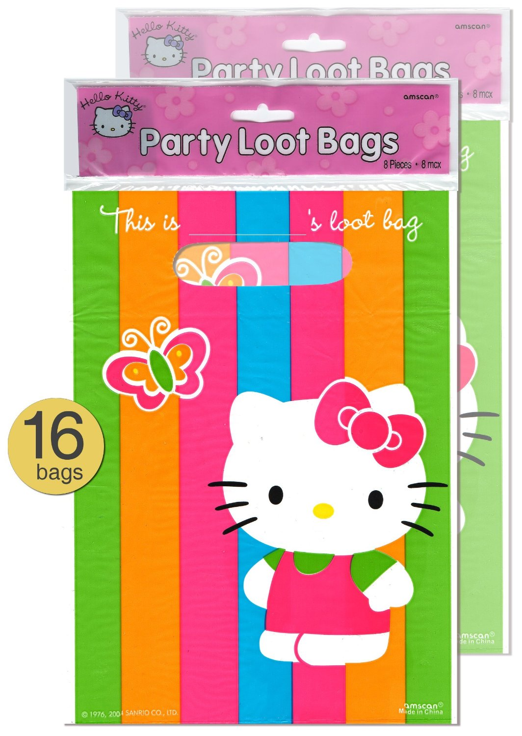 O Kitty Theme Party Treat Loot Bags Whole Bulk Pack Of 16