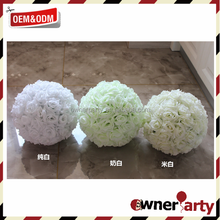 Elegant 10 Inch Wedding Decoration Satin Silk Flower Ball