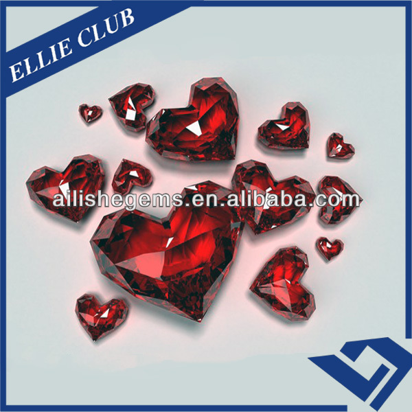 New Lead-Free Brilliance Heart Shape Ruby 10*10mm