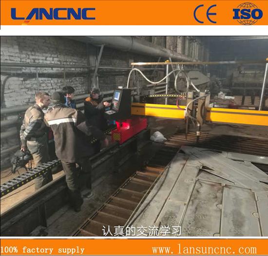 ไดรฟ์คู่แสง Gantry มินิ Cnc เครื่องตัดพลาสม่ากับ Lgk 120เครื่องตัดพลาสม่า