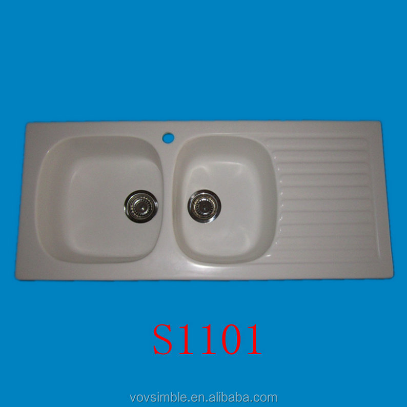 Easy Clean Acrylic Kitchen Sink/solid Surface Kitchen Sinks ...