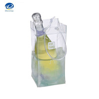 New design wholesale clear plastic pvc wine bottle ice cooler bag as nice gift china supplier 2016