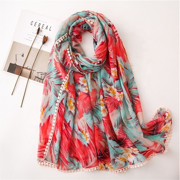 Wholesale Summer Long Women Scarf Tassel Ladies Scarves And Stoles