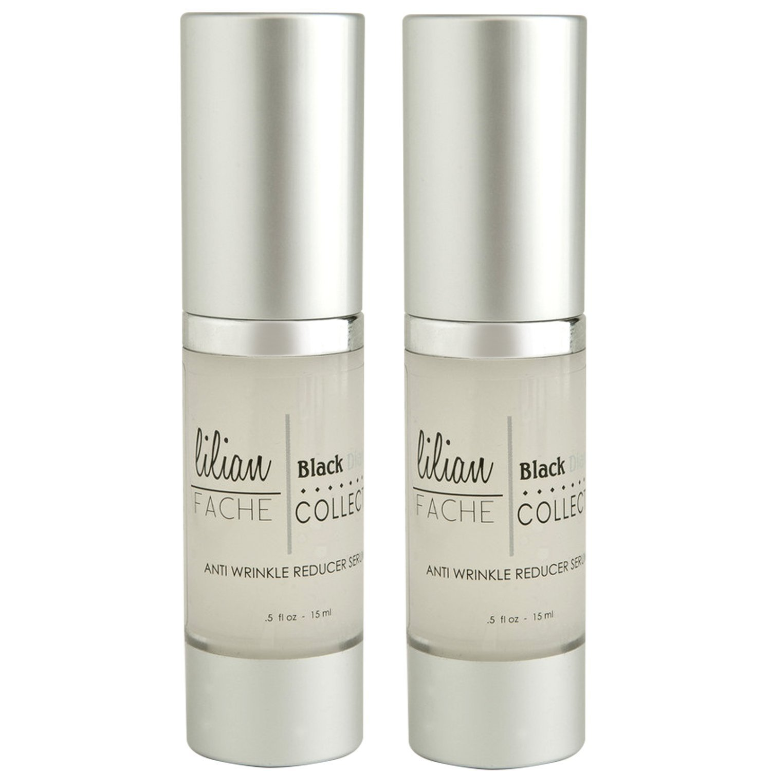 Anti Wrinkle Reducing Serum - By Lilian Fache - Anti Aging Serum - Wrinkle Reducer - Skin Rejuvenation for Preventing and Reducing Fine Lines and Wrinkles - Black Diamond Dust Infused - Beauty Skin Care Product - Collagen Restoring - Try This One of a Kind Anti Aging Wrinkle and Fine Line Reducer