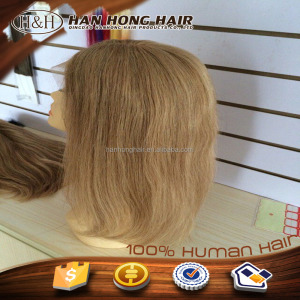 Virgin Indian Full Lace Wig for Hand Tied Vertex Hair Wig #18/20 Mono Cap Custom for 15 days