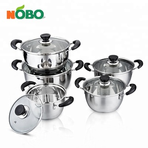 NOBO Stainless Steel stock pot,factory supply cookware japanese cookware