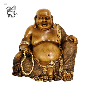 hotsale outdoor decoration bronze large gold yellow laughing buddha sculpture statue BSG-64