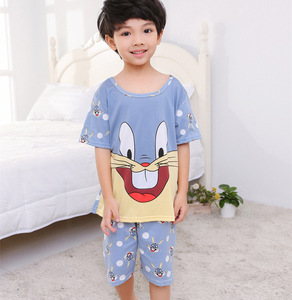 Kids toddler sleeping pajamas sets african boutique stock Malaysia boys girls suit kids clothes vendor