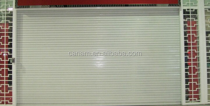 Good security durable aluminum bulletproof rolling shutter door