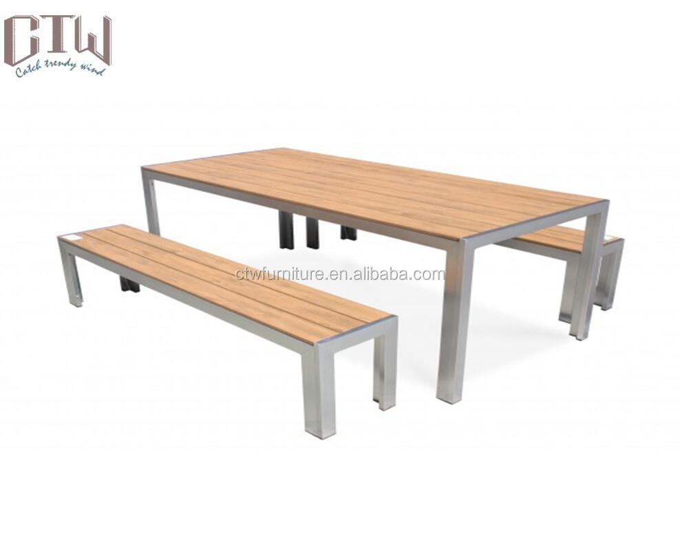 Superb Outdoor Aluminum Poly Wood Table Bench Buy Garden Aluminum Table Bench Poly Wood Aluminum Table Bench Garden Aluminum Table Chair Product On Frankydiablos Diy Chair Ideas Frankydiabloscom