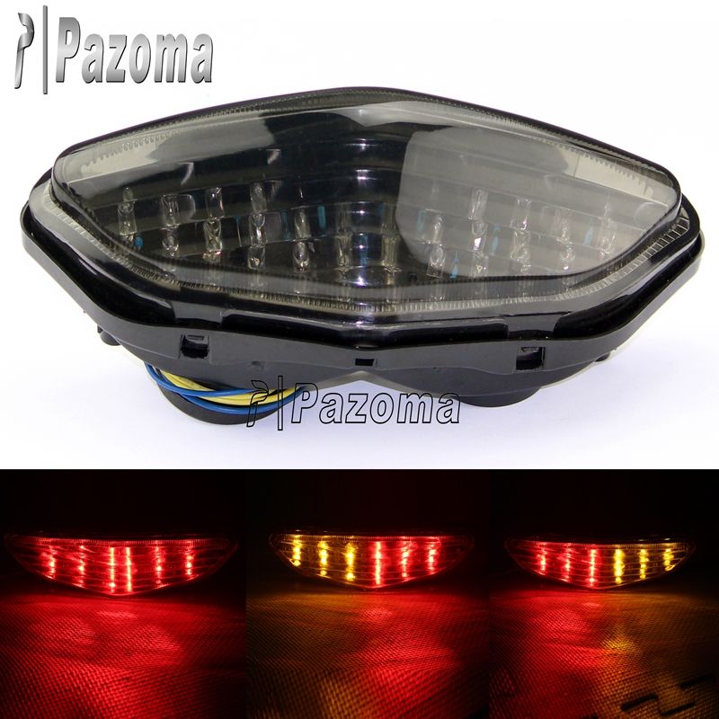 Pazoma Motorcycle LED Brake Taillight With Turning Signals For 2003-08 Suzuki DL 650 1000 V-Strom