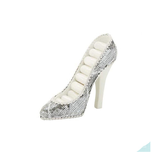 Resin Silver Sequined Shoe Ring Holder