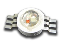 3W RGB full color led diodes with 6 leg RGB LED Epileds chip