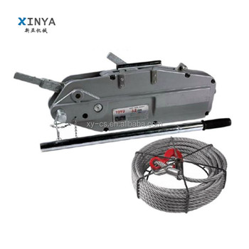 Cable Pulling Tools Tirfor Hoist 5.4 Ton With 20 Meter Steel Wire ...