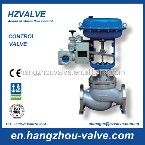 Globe control valve for steam and water