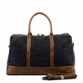 283af950a43a China wholesale canvas weekend travel bags for men travel bag with genuine  leather trim MC88803K