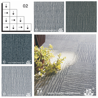 PVC or PU Floor Carpet Tiles 50X50 with Competitive Manufacturer Price
