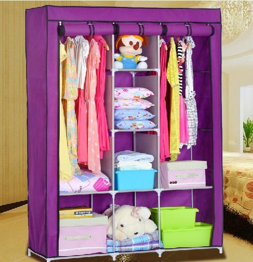 Diy modular de acero armario tela armario gabinete de buen - Acero modular precios ...