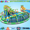 customized giant water park slides for sale cheap inflatable water park with floating obstacles