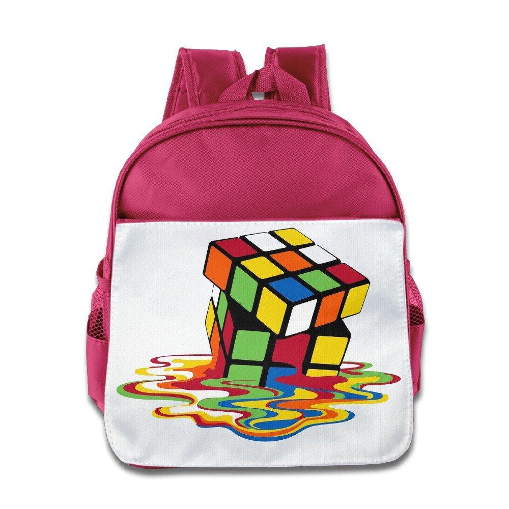 7c13bc388f45 Get Quotations · Ysov Melting Rubik s Cube Toddler Kid Pre School School Bag  Pink
