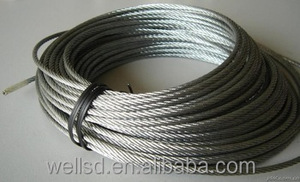 wells factory fiber core 3mm 6x7+copper galvanized steel wire rope