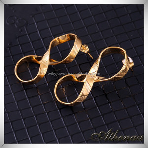 High Quality Gold Plated Jewelry Number 8 Zhejiang Crafted Earring