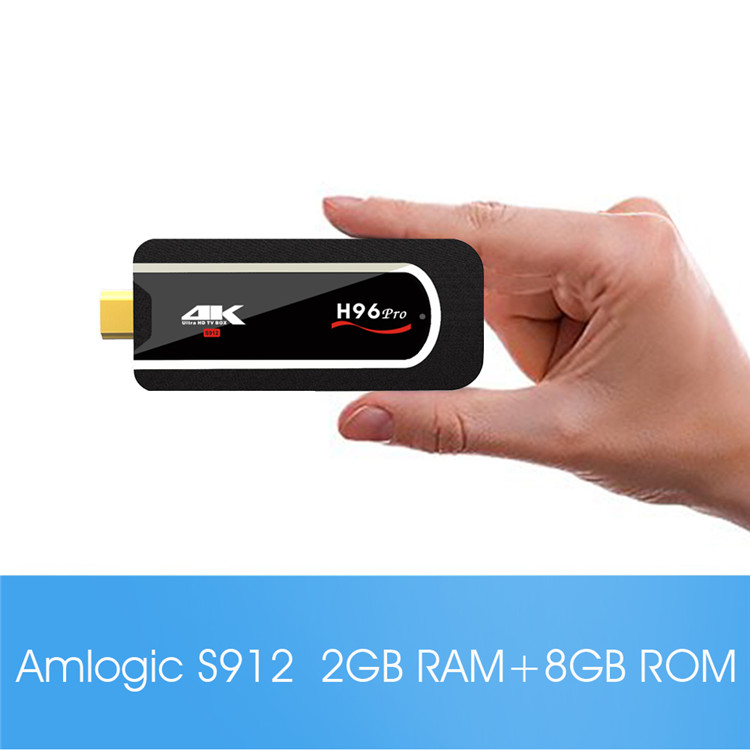 H96 Pro mini PC Amlogic S912 2G 8G Android 7.1 ms8 android tv boxAndroid 7.1 marshmallow tv box octa core KD player
