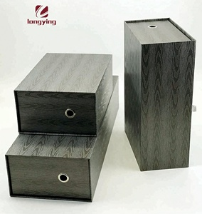 High quality gift boxes wholesale Wood Grain cardboard shoe box