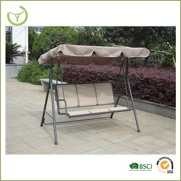 Garden Swings For Adults: Steel+polyester+texlene Outdoor Swings For Adults