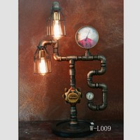 Industrial Vintage Retro Steam Punk Pipe Table Lamps