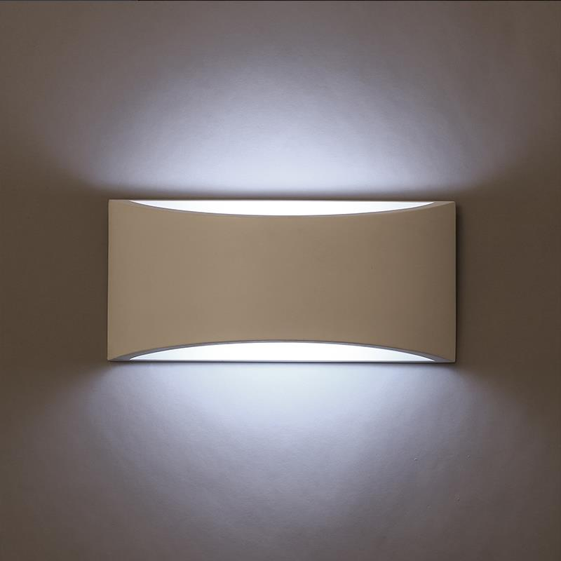 Modern style led wall lamp white color lighting 220v wall sconce gypsum wall lights