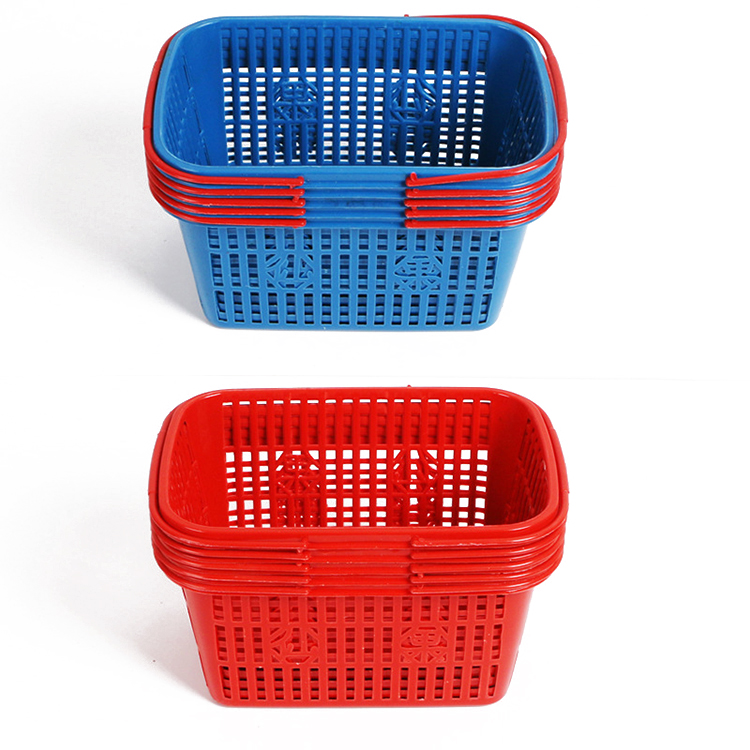 Storage Basket Rectangle Fruit Stainer Draining Washing Bowl Colander White