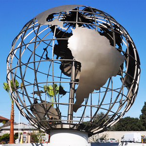 Large Outdoor Metal 304# Stainless Steel Globe Sculpture for Sale