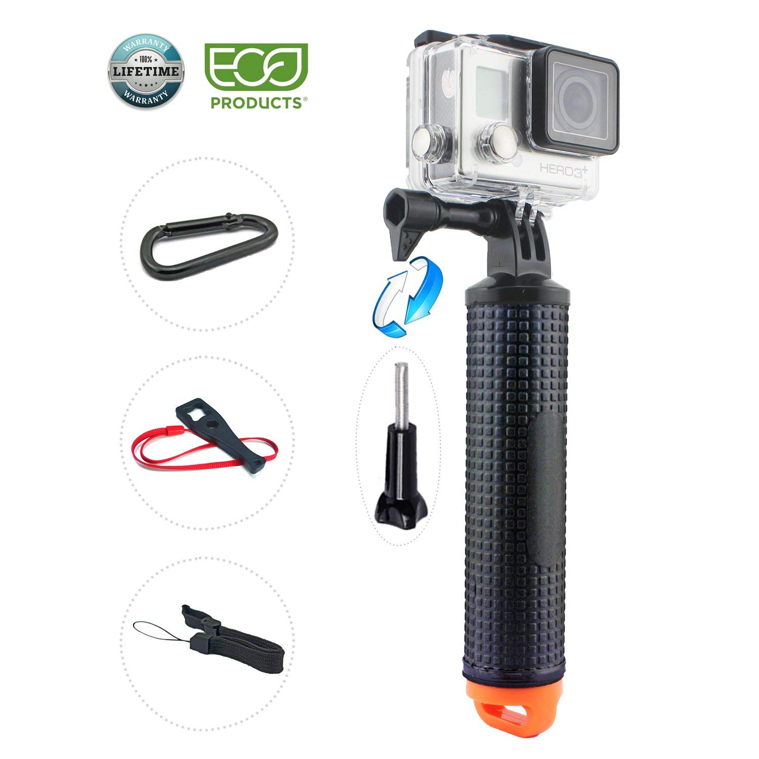 Cheap Gopro Grip Find Deals On Line At Alibabacom Floating Hand Bobber For Xiaomi Yi And Hero 2 3 Get Quotations Handle Float Selfie Stick Floaty 6 5 Black Session