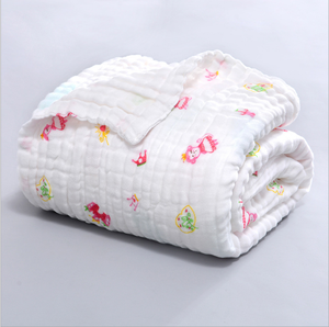 100%Cotton Material and Used Blanket in korean Baby Newborn Blanket