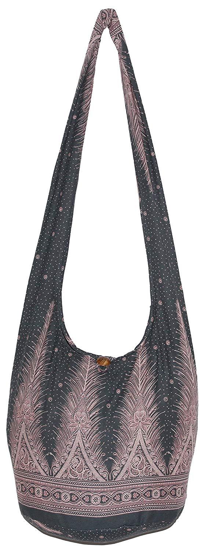 AHOMY Personality Peacock Feather Messenger Bag Small Travel School Sling Bag Crossbody Bag