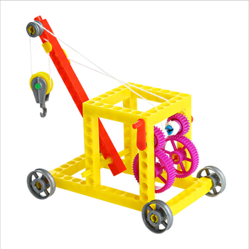 DIy stem educational kit simple crane for child