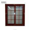 Frosted glass bathroom aluminum sliding window with security bars